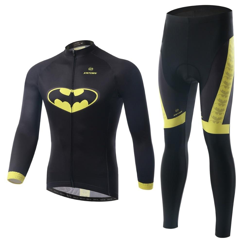 ФОТО XINTOWN Windproof Custom Cycling Jersey Long Sleeve Winter Fleece And Pants Customize Bicycle Wear High Quality Clothes LFT193