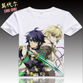 Japanese Owari no Seraph Mikaela Hyakuya moe Anime T shirt Fashion Men Women Seraph of the end Casual Short Sleeve cosplay