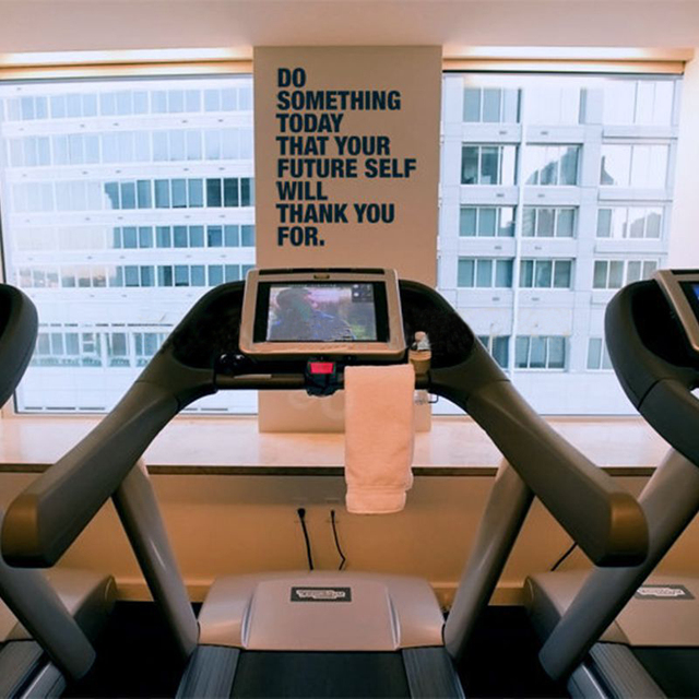 Free Shipping Do Something Today Fitness Motivational Wall Decal Quote Sticker for Home, Office, Yoga Studio, or Gym ,J2055