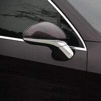 Car Styling Rearview Mirror Trim Strips 2pcs For Porsche Cayenne 2015 17 Auto Body Exterior Decoration Cover Trim