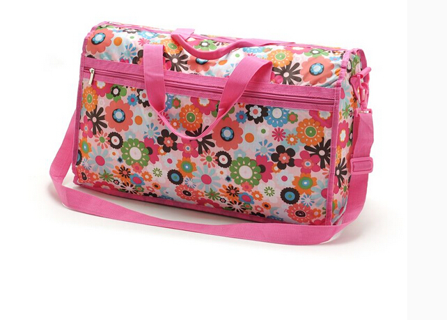 fashion Encryption flower print material travel bag big size one shoulder cross body messanger handbag pastoralism 0236857