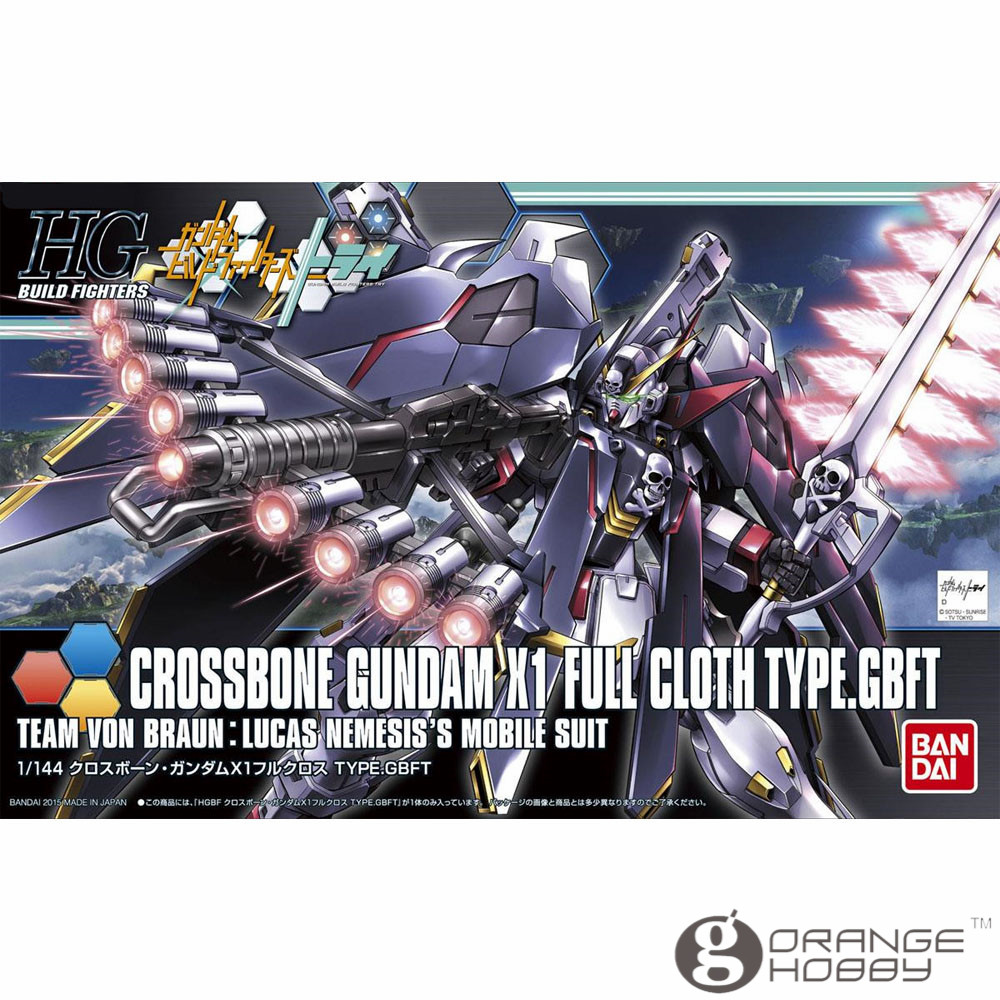 OHS Bandai HG Build Fighters 035 1/144 Crossbone Gundam X1 Full Cloth Type GBFT Mobile Suit Assembly Model Kits