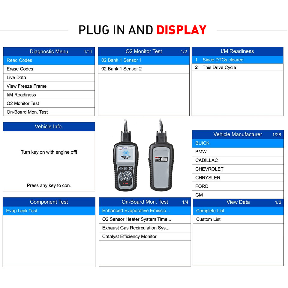 Image 3 - Autel MaxiLink ML619 ABS/SRS +CAN OBDII Diagnostic Tool Clears codes and resets monitors