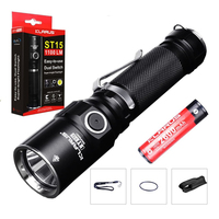 LED Flashlight KLARUS ST15 CREE XP L HI V3 LED MAX. 1100LM Beam distance 305meters 6 working modes outdoor torch tactical light