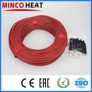 Image 2 - Cavo riscaldante in fibra di carbonio con rivestimento in gomma da 33Ohm/m 3mm