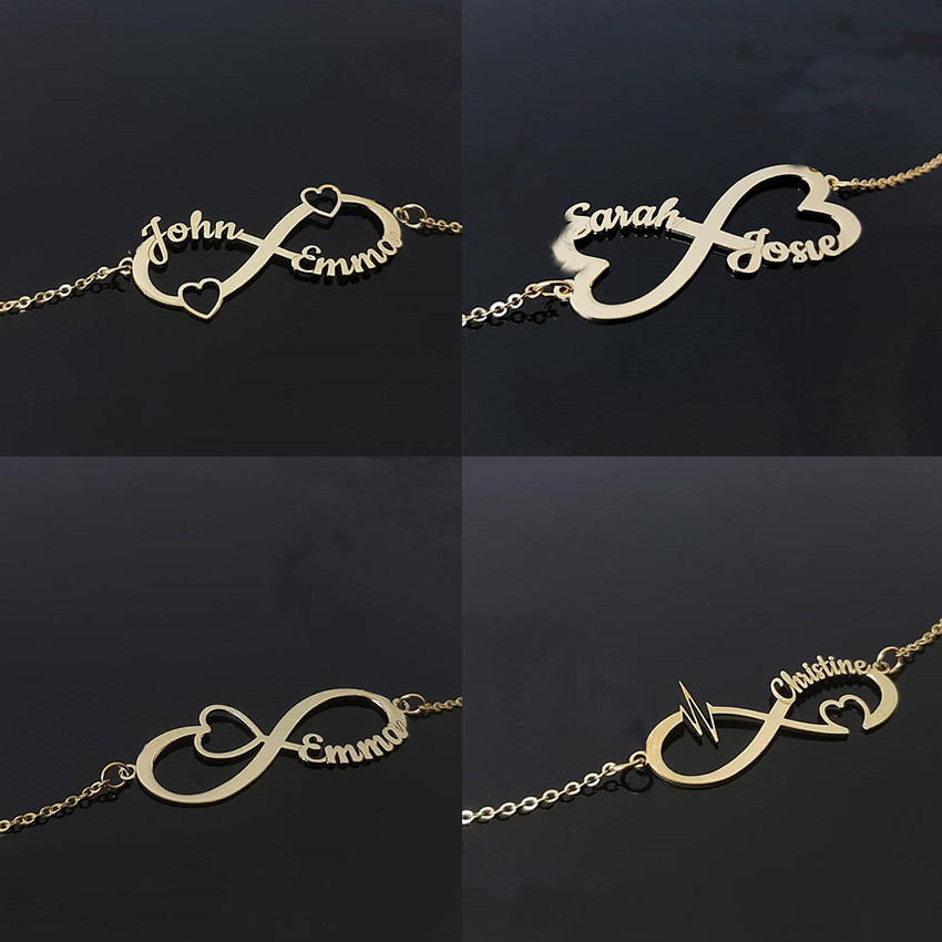 6b272b609c5d Armbanden Voor Vrouwen BFF brazalete infinito pulsera de nombre  personalizado