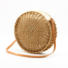 Round openwork straw bag hand woven bag shoulder Crossbody female bag