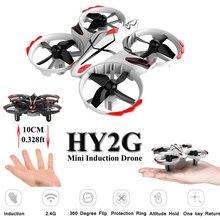 HY2G Dron Cảm Ứng Mini Bay Không Người Lái 2.4 gam Độ Cao Giữ Chế Độ Drone Quadrocopter Không Đầu Quadcopter RC Máy Bay Trực Thăng Đồ Chơi Cho Trẻ Em