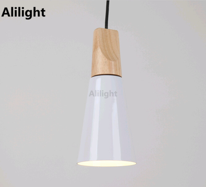 Modern Industry White Pendant Lamp Indoor Outdoor Aluminum Art Porch Light E27 Led Hanging Lamp