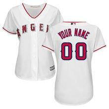 2e75cddaf75 MLB Women s Los Angeles Angels White Home Cool Base Custom Jersey.(China)