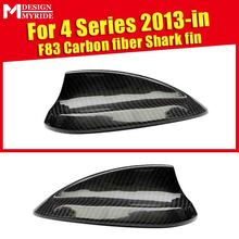 F83 Carbon Shark Fin Gloss Black For BMW  2-door Convertible M4 420i 428ixD 430i 435i Roof Antenna Cover 2015-in