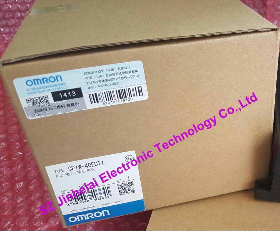 100% New and original CP1W-40EDT1 OMRON  PLC CONTROLLER   Input/output unit cp1w ext01 new and original omron plc communication adapter