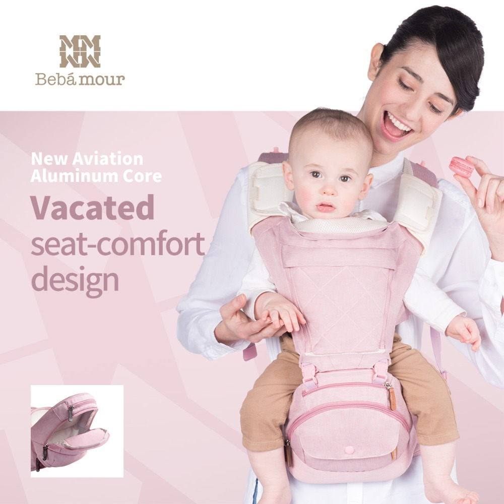 Bebear 2017 New Fashion Baby Carrier Hipseat Baby Backpack Ergonomic Carrier 360 Multifunctional Baby Wrap Slings for Babies hot baby carrier infant hipseat backpack children s backpack multifunction slings for babies cotton baby hipseat mochilas pt427