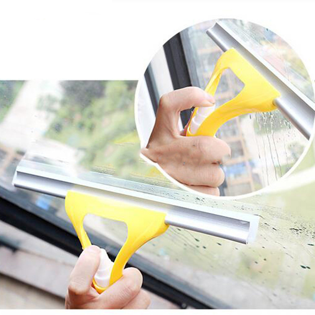 New Practical Washing brush Magic Spray type cleaning brush glass wiper window clean shave glass sponge car window cleaning