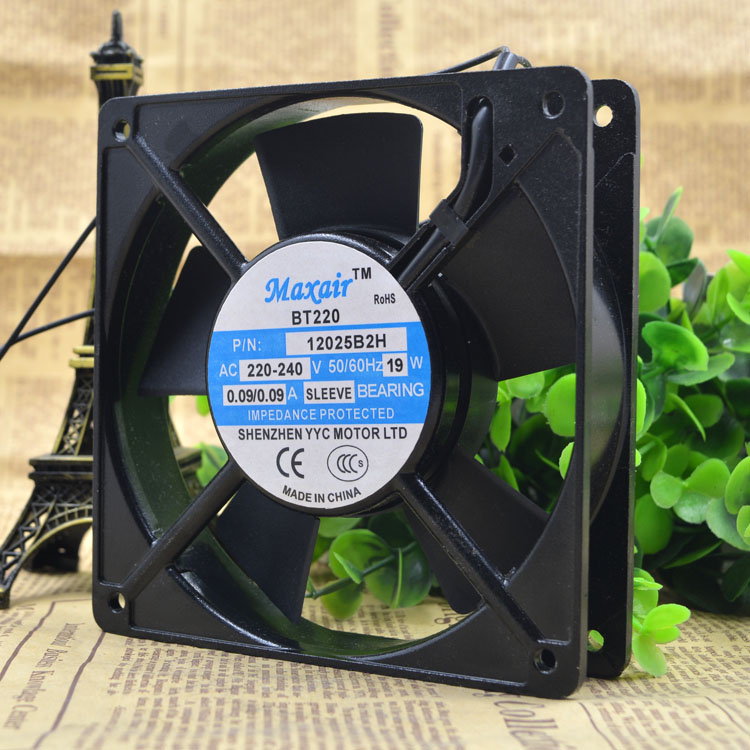 Free Delivery.BT220 P/N 12025 b2h 220 ~ 240 v 19 w 12025 double ball bearing cooling fans pl 12025 w