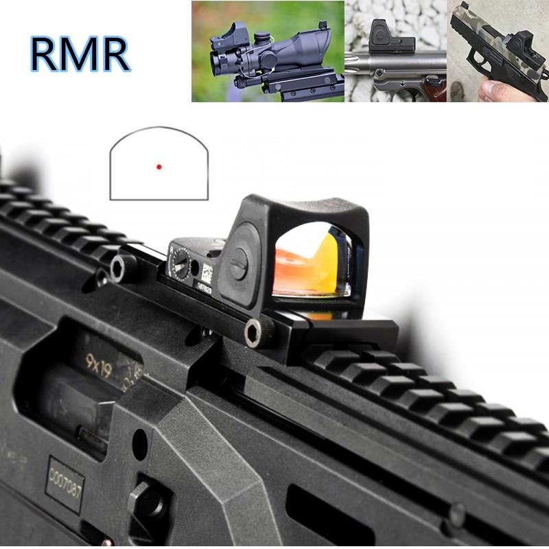 Trijicon fusil de chasse Mini RMR Reflex point rouge lunette de visée collimateur Glock lunettes de chasse chasse pistolet de poing Fit 20mm Pictinny Rai