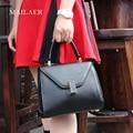New 2017 Women Genuine Leather Bag Shoulder Messenger Bags Tote Bag Envelope Elegant Designer Candy Color Lady Bag Free Shipping