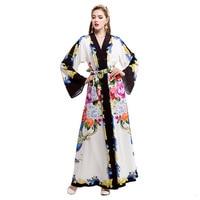 Runway Fashion 2017 Women Dresses Plius Size Robe Cape Autumn Long Sleeve Evening Party Club Vintage Dress Boho Maxi Clothing