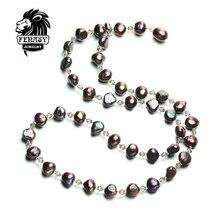 FENASY Bohemia diseño encanto collar de perlas, collar largo, doble uso de método Perfilado de joyería fina perla del collar de la joyería