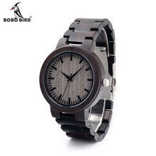 BOBOBIRD C30 Ebony Wood Watches For Mens Watches Top Brand Luxury Quartz Watches With Gift Box