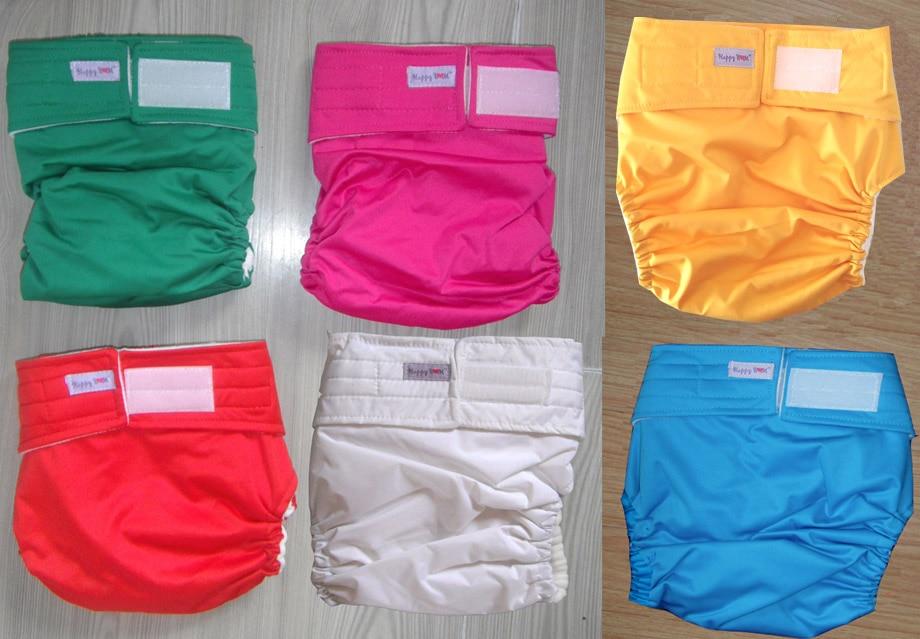 6 kleuren waterdicht Volwassen doek luier Luier luiers Luiers (1pcs luiers + 1pcs invoegen)