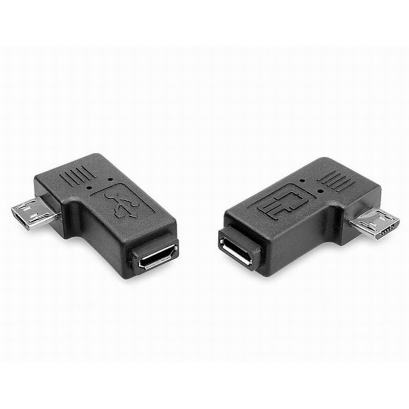90 Degree Right Left Angle Micro USB Male To Micro Female Plug Adapters
