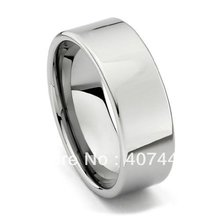 Free Shipping Buy Cheap Price USA Brazil Russia Hot Sales 8mm Silver Polish Pipe Cut Tungsten Carbide Ring Mens Wedding Band