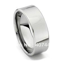 จัดส่งฟรีซื้อราคาถูก USA บราซิลรัสเซียร้อนขาย 8 มิลลิเมตรเงินภาษาโปลิชคำท่อตัดทังสเตนคาร์ไบด์แหวนผู้ชายแหวนแต่งงานวง