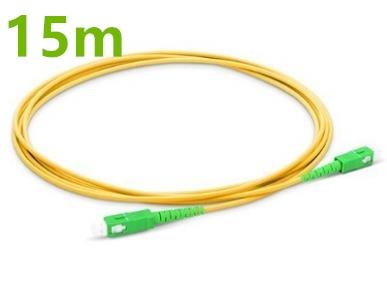 15m SC APC To SC APC Fiber Patchcord Simplex 2.0mm PVC Single Mode Fiber Patch Cable Patch Cord Bend Insensitive Optic Cable