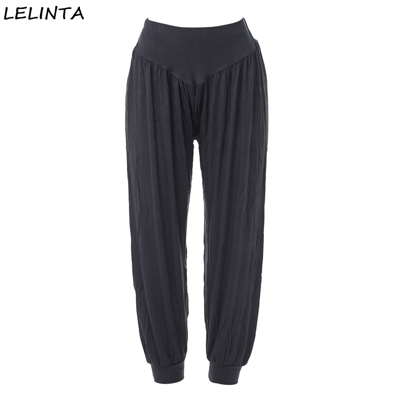 4de99a5ef19 New Fashion Women Casual Pants High Waist Deep Gray Pant Dance Club Wide  Leg Loose Long Bloomers Trousers