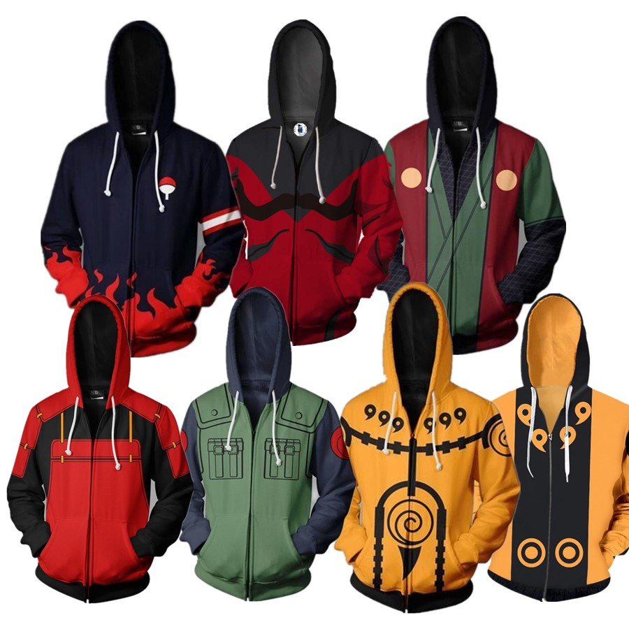 Naruto Uchiha Sasuke Uzumaki Itachi Cosplay Costume Hoodies Anime Sweatshirts Men Women Clothing