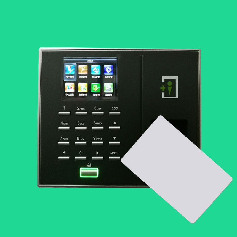 Biometric Fingerprint and RFID Card Door Lock Access Controller Color Screen MF/IC 13.56Mhz Card ZK F2S biometric fingerprint access controller tcp ip fingerprint door access control reader