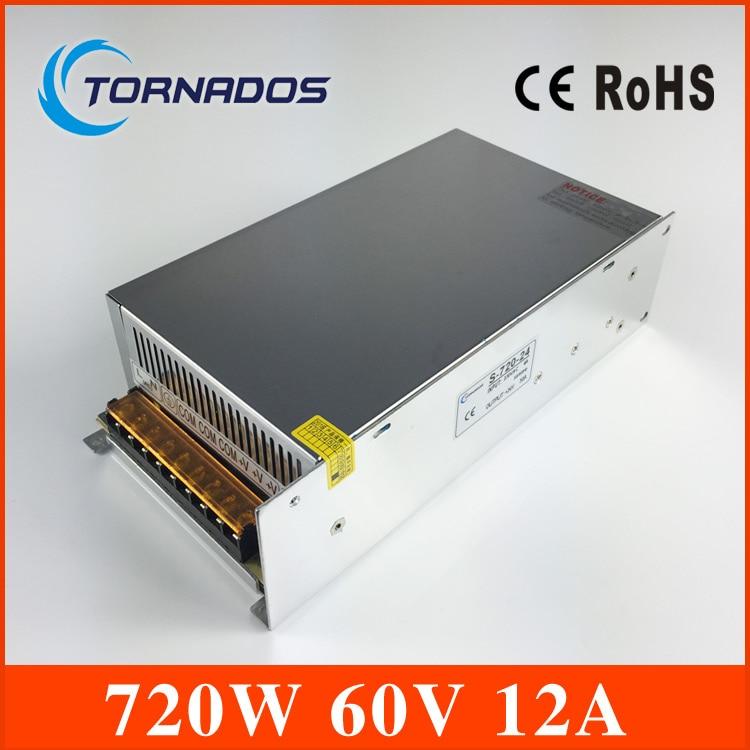 S-720-60 DC Alimentation 60 V 12A 720 W Alimentation à découpage transformateur AC110V 220 V À DC 60 V s'appliquent à Laser gravure machine