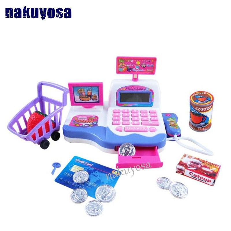 Children Simulation Cash Register Toy Abs Plastic Boys S Plaything Supermarket Kids Gift