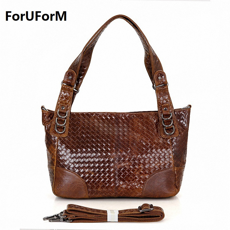 New 2017 Genuine Leather Women Weave Handbag Patchwork Natural Cowhide Shoulder Bag Famous Brand Women Bag Casual Tote LI-1446 luxury genuine leather bag fashion brand designer women handbag cowhide leather shoulder composite bag casual totes