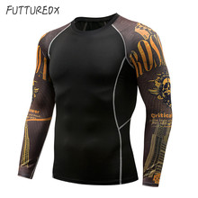 2019 Shantou Rashgard running shirt mens basic training T-shirt long-sleeved compression fitness