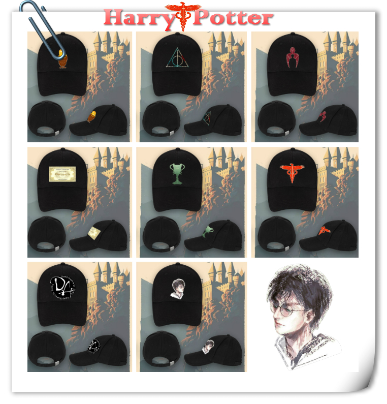 Giancomics Harri Potter Baseball Cap Cosplay Costume Anime Symbol Adjustable Hat Costume Cool Accessory Hip Hop Flat Hat Unisex