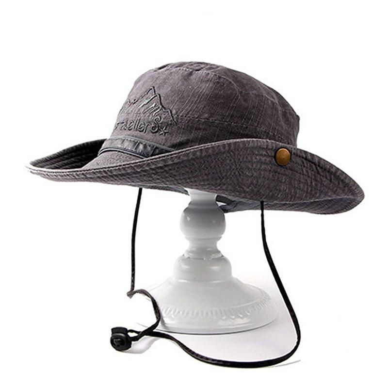 Fibonacci merkkwaliteit wasbare cowboy emmer hoed fishman platte caps - Kledingaccessoires - Foto 1