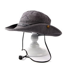 Fibonacci Brand Quality Washable Cowboy Bucket Hat Fishman Flat Caps Men Bob Polo Outdoor Mountaineering Fishing Sun Hat