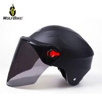 Winddicht Anti Uv Objektiv Radfahren Sicherheit Helm Removable Maske Roller Caps Motorrad Wandern Bike Fahrrad Hemlets mit Visier-in Fahrradhelm aus Sport und Unterhaltung bei