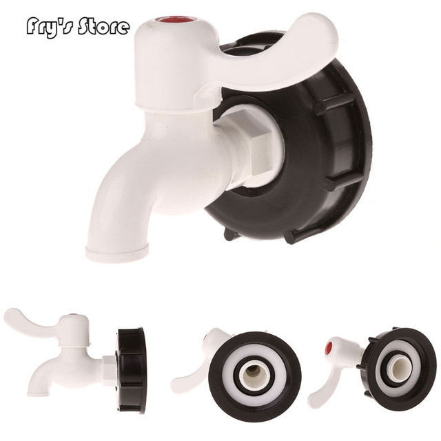 """Fry's Store IBC Tote Tank Food Grade Drain Adapter 2.36"""" Coarse Thread To 3/4"""" Garden Hose Faucet Valve for Dropshipping"""