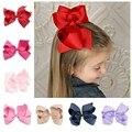 Yundfly 1 шт. 6-дюймовая Большая лента, бант, шпилька, банты для маленьких девочек, аксессуары для волос в модном стиле (Цвет: 20 цветов)
