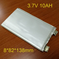 2pcs 3 7v Lipo Battery 10Ah Rechargeable Li Polymer Cell For 12V 10A Battery Pack DIY