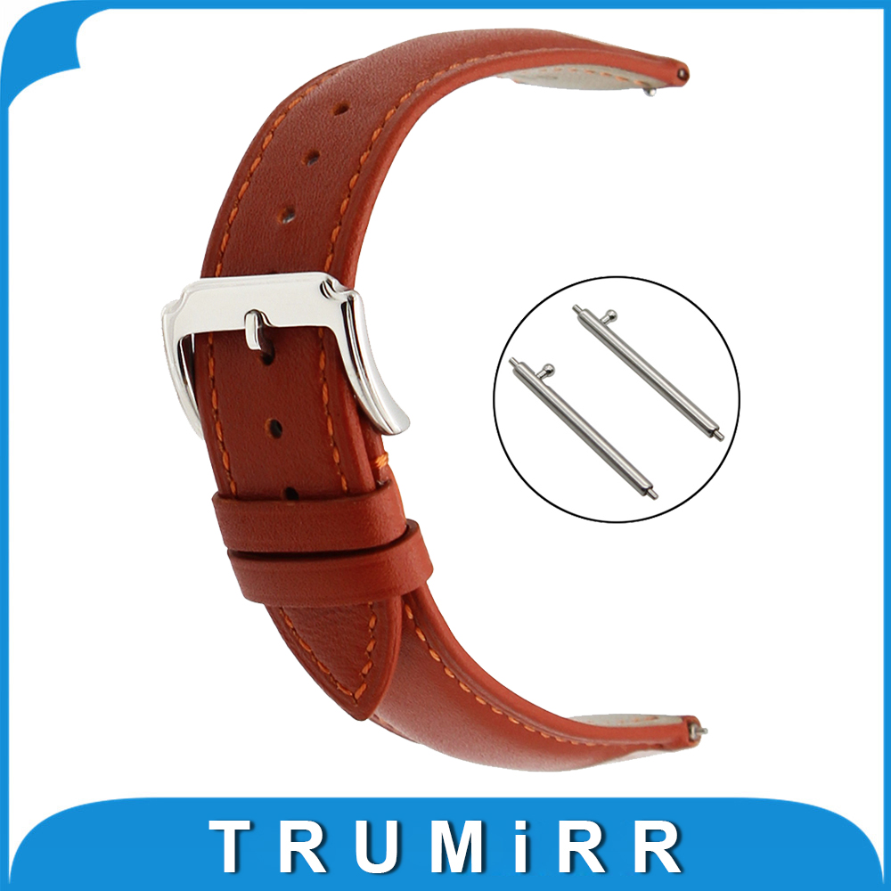20mm First Layer Genuine Leather Watch Band Quick Release Strap for Garmin Vivomove Wrist Belt Bracelet Black Brown +Spring Bar 18mm 20mm 22mm quick release watch band butterfly buckle strap for tissot t035 prc 200 t055 t097 genuine leather wrist bracelet