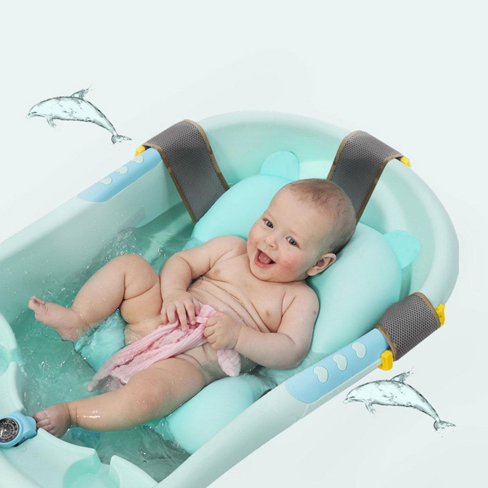 Newborn Baby Bathtub Foldable Cartoon Mat Soft Seat Infant Sink Shower Baby Play Bath Cushion Children's Bathing Bed Mat