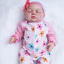 Baby doll toys reborn babies 22″ real sleeping newborn baby cloth body silicone dolls for kids xmas gift girls toys