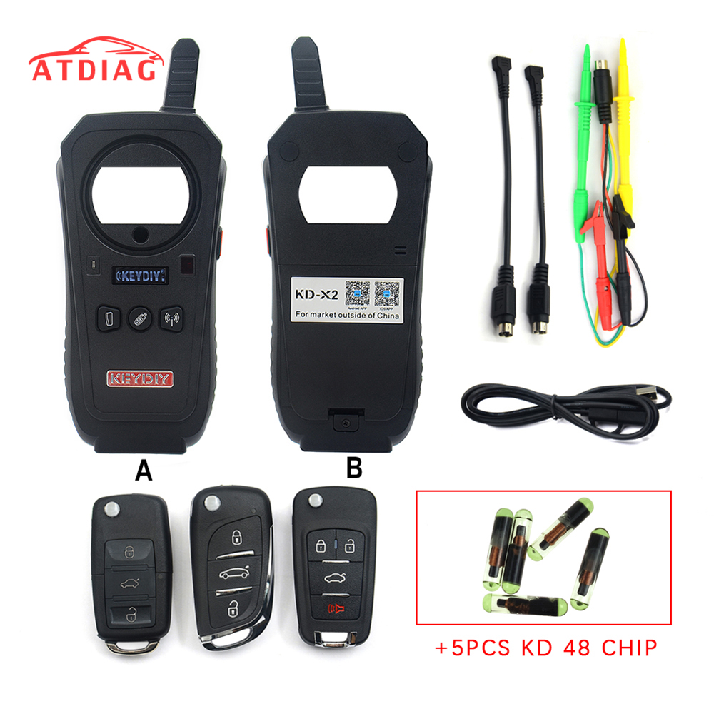 Original with Chips keydiy Car Diagnostic Tool KD X2 kd X2 Remote Maker Unlocker with Free