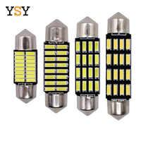 400pcs Wholesale C5W Led 4014 16 SMD 16 Leds Interior Lights 31mm 36mm 39mm 41mm Festoon Dome Lamps Reading Light Mix Size