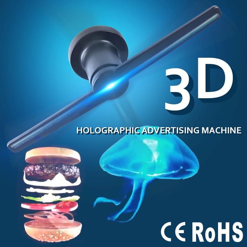 3D Hologram Advertising Display LED Fan Holographic Imaging 3D LED Fan Light 3d Display Advertising Logo Light Decoration(China)