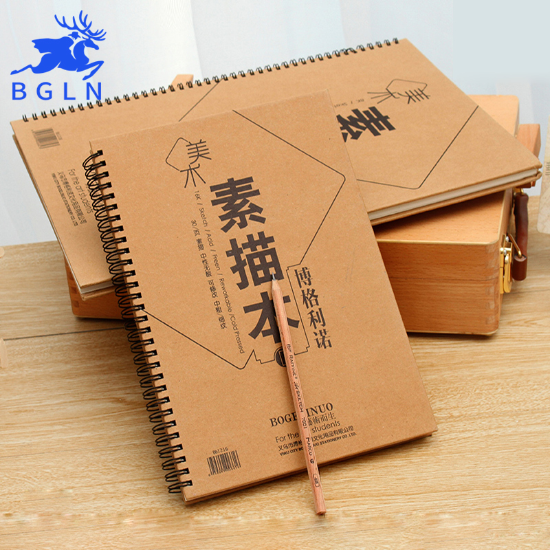 Bgln 30Sheets Double-sided Sketch Paper For Drawing 8K/16K Professional Painting Sketch Book Art Supplies Stationery